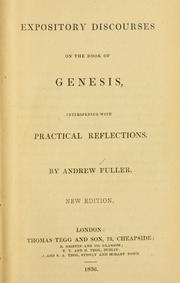 Cover of: Expository discourses on the Book of Genesis
