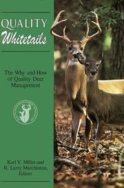 Cover of: Quality whitetails |