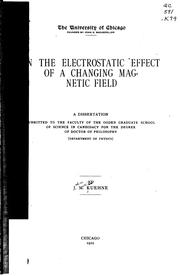 Cover of: On the electrostatic effect of a changing magnetic field ..