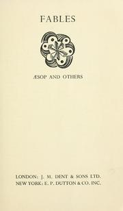 Cover of: Æsop's fables: an anthology of the fabulists of all countries