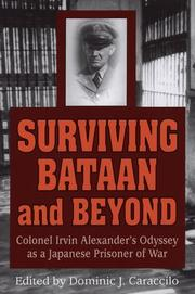 Cover of: Surviving Bataan and beyond | Irvin Alexander