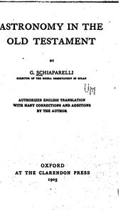 Cover of: Astronomy in the Old Testament