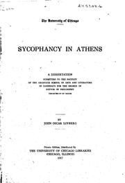 Cover of: Sycophancy in Athens | John Oscar Lofberg