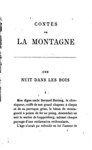 Cover of: Contes de la montagne