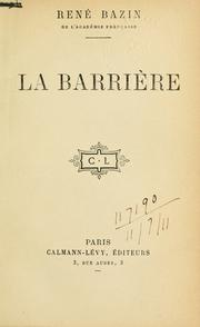 Cover of: La barrière