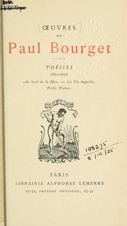 Cover of: Poésies, 1876-1882