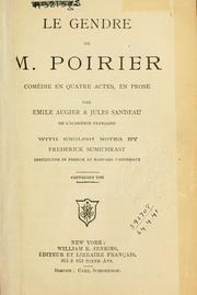 Cover of: Le gendre de M. Poirier