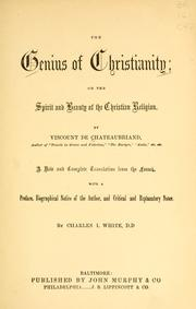 Cover of: genius of Christianity | François-René de Chateaubriand