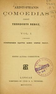 Cover of: Aristophanis Comoedias