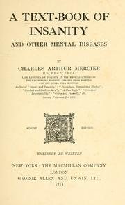 Cover of: A text-book of insanity and other mental diseases