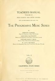 Cover of: The progressive music series for basal use in primary, intermediate and grammar grades