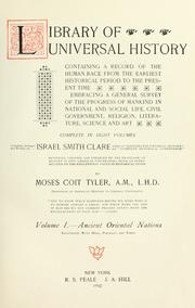 Cover of: Library of universal history | Israel Smith Clare