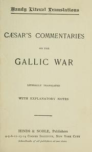 Cover of: Caesar's Commentaries on the Gallic War