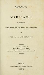 Cover of: Thoughts on marriage