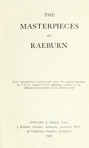 Cover of: The masterpieces of Raeburn