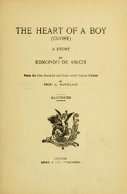 Cover of: The heart of a boy = by Edmondo De Amicis