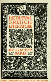 Cover of: Mediæval French literature