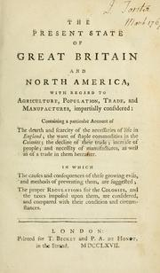 Cover of: The present state of Great Britain and North America
