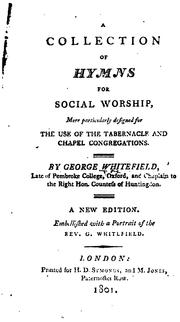 Cover of: A collection of hymns for social worship