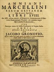 Cover of: Ammiani Marcellini Rerum gestarum libri qui supersunt