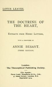 Cover of: doctrine of the heart | Annie Wood Besant