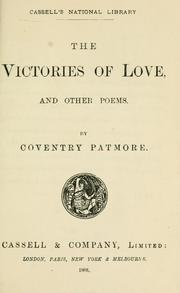 Cover of: The victories of love, and other poems