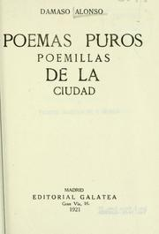 Cover of: Poemas puros