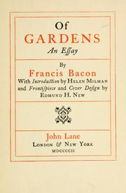 Cover of: Of gardens by Francis Bacon