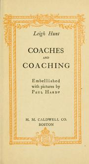 Cover of: Coaches and coaching