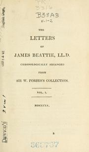 Cover of: Beattie's letters