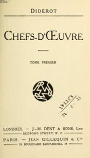 Cover of: Chefs-d'oeuvre