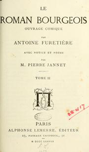 Cover of: Le roman bourgeois