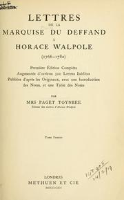 Cover of: Lettres à Horace Walpole, 1766-1780