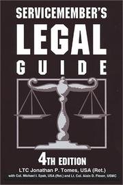 Cover of: Servicemember's legal guide