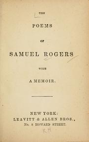 Cover of: The poems of Samuel Rogers