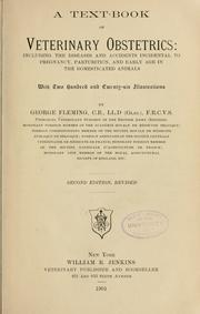 Cover of: text-book of veterinary obstetrics | George Fleming