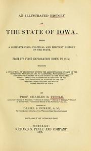 Cover of: An illustrated history of the state of Iowa