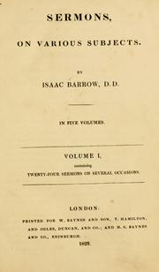 Cover of: Sermons on various subjects