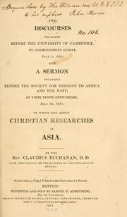 Cover of: Two discourses preached before the University of Cambridge ... July 1, 1810