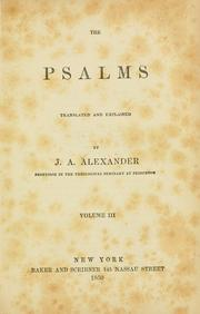Psalms translated and explained