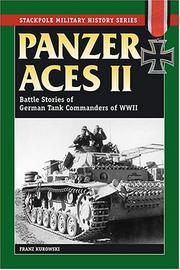 Cover of: Panzer Aces II: Battle Stories of German Tank Commanders in World War II (Stackpole Military History Series)