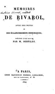 Cover of: Mémoires de Rivarol