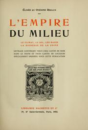 Cover of: L' empire du milieu