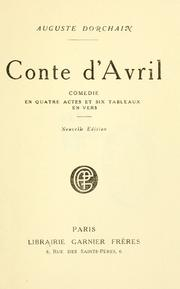 Cover of: Conte d'Avril