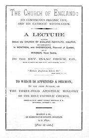 Cover of: The Church of England