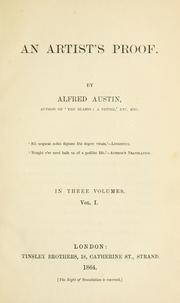 Cover of: An artist's proof