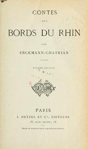 Cover of: Contes des bords du Rhin