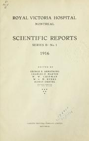 Cover of: Scientific reports.  Series B. | Royal Victoria Hospital, Montreal
