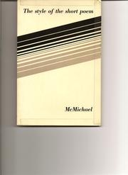 Cover of: The style of the short poem
