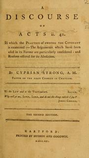 Cover of: A discourse on Acts ii. 42